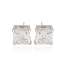 91672 xuping fashion simple square shaped synthetic zircon women's stud earrings