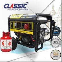 CLASSIC (CHINA) Comprar Generador de gas natural de biogás 6kw portátil de Bison con motor de marco negro, generador de biogás