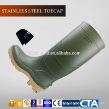 JX-AL966 CE China Eco-friendly impermeável PVC botas de chuva e sapatos de segurança