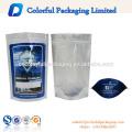 Custom made barato atacado impresso saco de folha de plástico de alumínio de prata clara