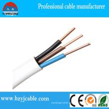 Cubierta de alambre de PVC Cable de sheth del conductor del cobre de la envoltura del cable