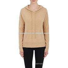 New Design Women Pure Cashmere Hoodie Sweater