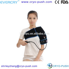 EVERCRYO pneumatic compression device shoulder cold gel wrap ice treatment with compression and shoulder ache