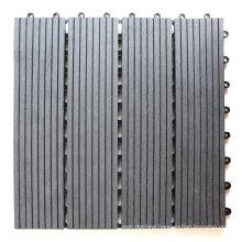 WPC Composite Wood Plastic Deck Tile for Patio Terrace Concrete Floor Covering