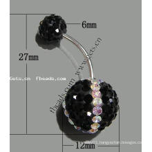 Gets.com crystallized belly ring acrylic