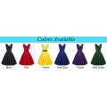 Grace Karin Wholesale Sleeveless Sweetheart V-Back High Stretchy Retro Vintage Black Party Dress CL008948-1