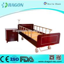 DW-BD187 Lit de soins infirmiers manuel et armoires avec 2 fonctions de lit d'hôpital à domicile