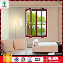 Fenêtre à battant en aluminium de conception simple de style haut standard Fenêtre à battant en aluminium de conception de style simple OEM