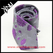 Perfect Neck Knot Private Label Wedding Silk Jacquard Floral Tie