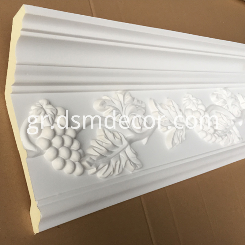 Polyurethane Grape Crown Molding
