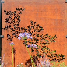 Laser Cut Corten Steel Fencing