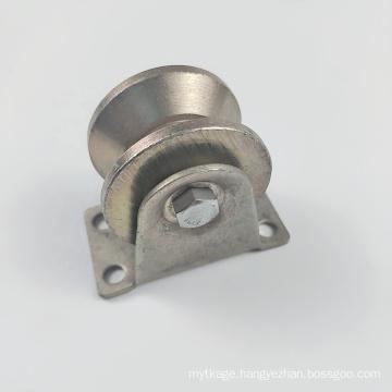 Galvanized steel sliding gate roller wheel V pulley wheel door metal