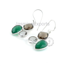 Wholesale Supplier for Onyx and Quartz with Sterling Silver Fashion Earring for Engagement & Wedding