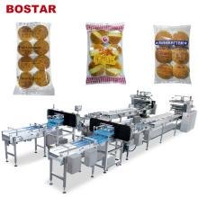 Bostar Auto Flow Burger Brot Hamburger Verpackungsmaschine