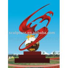 Moderne große abstrakte Edelstahl-Skulptur Kunst-Skulptur für Outdoor-Dekoration