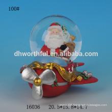 Lovely resin Christmas santa snow globe