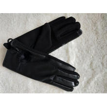 wholesale ladies PU glove touch screen
