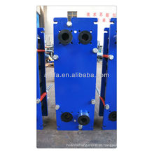 Trocador de calor de placa de titânio para água do mar, refrigerador marinho, preço do trocador de calor