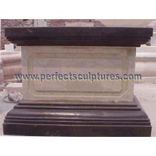Pedestal de mármol de piedra del granito para la escultura del jardín (BA028)