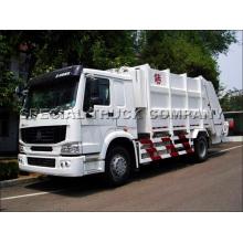Camión de basura posterior HOWO de Sinotruk 18cbm