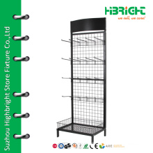 Mesh wall tools display stand with hooks