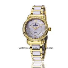 Fashion Diamond Quartz Stainless Steel Ladies Watch