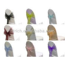 пояс стул органза мода кристалл обратно, галстук бабочкой, узел, Чехлы на стулья Свадебные и скатерть