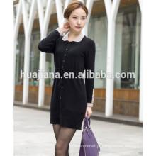 2014 moda cashmere tricô vestido para mulheres