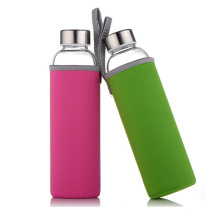 Custom 500ml professional sport high-end cycle bpa free glass h20 water bottle