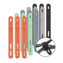 Colorful Reusable Silicone Cable Tie  Organizer
