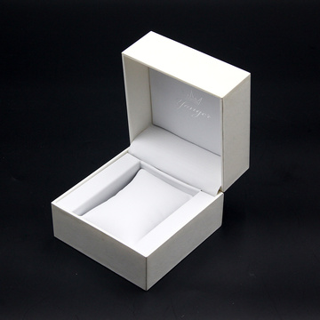 Logo Kustom Hard Paper Cardboard White Watch Box
