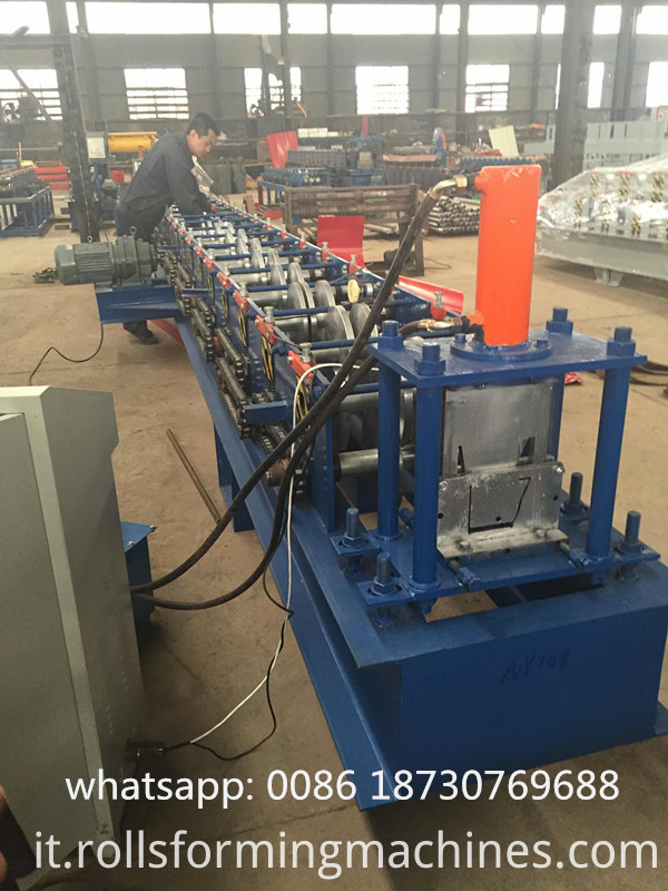 gutter making roll forming machine