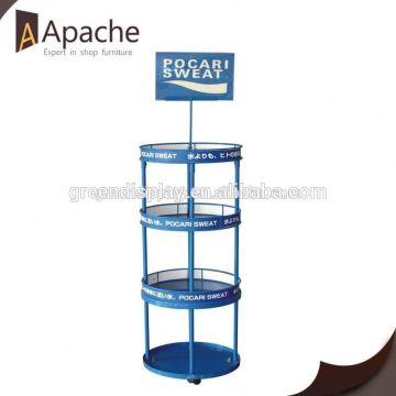 Great durability movable counter display stands for book
