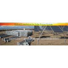 Puertos helicoidales para sistema de energía solar