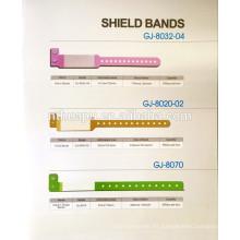 cinta de identificación desechable para el hospital, banda de protección, tarjeta de identificación