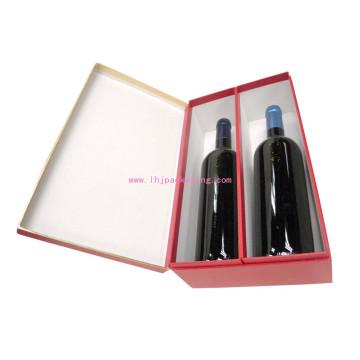 Роскошная упаковка вина бутылки вина 2 бутылок с фольгой штемпелюя