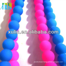 FA040 DIY jewelry making rubber beads glass neon matte round beads