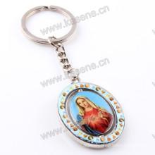 Hot Sale Alloy Saint Image Pendant Religious Key Ring