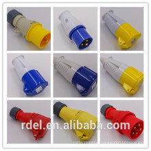LP-01 16A-9H 200-250V 3P+E IP44 CE INDUSTRIAL PLUG COUPLER