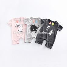 2017 ребенка рябить комбинезон оптовая цветочный принт животных новорожденного ребенка одежда комбинезон тела для детей