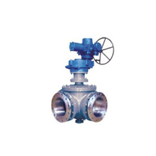 Gear 3 Way Ball Valve