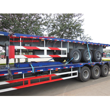 Flat-bed Semi Trailer Truck  for Container Loading
