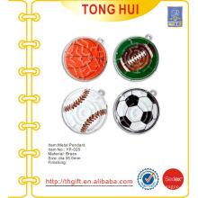 Verschiedene Sport-Gravur Ball Logo Anhänger Metall
