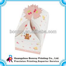 Nueva caja de regalo de embalaje de pastel de papel de diseño