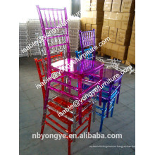 Colorido claro Resina Boda Chiavari silla transparente silla Tiffany