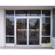 Коммерческая стеклянная алюминиевая дверь