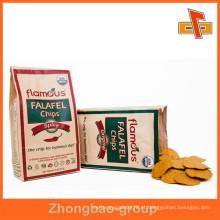 Grade de alimentos à prova de gordura personalizado fundo inferior Kraft saco de bolsa de papel para chips