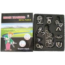 Rompecabezas de metal (10 en 1 abierto caja de widonw)