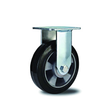 Heavy Duty Rubber With  Aluminum Rigid Casters