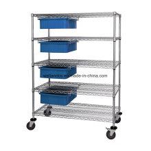 De alta calidad 5 capas de acero de cromo de almacenamiento de alambre de almacenamiento de plataforma